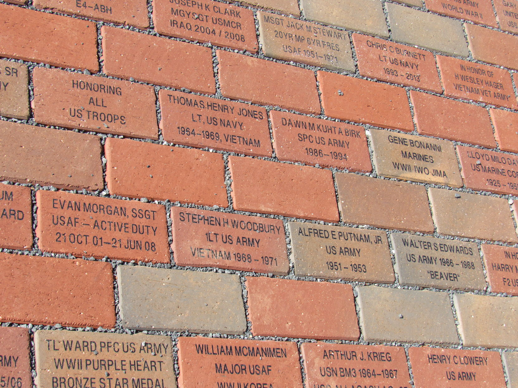 bricks with names JPG   Lake Norman Publications
